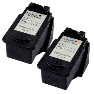 Sophia Global Remanufactured Ink Cartridge Replacement for Canon PG-210 CL-211 (1 Black, 1 Color)