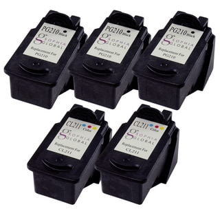 Sophia Global Remanufactured Ink Cartridge Replacement for Canon PG-210 CL-211 (3 Black, 2 Color)