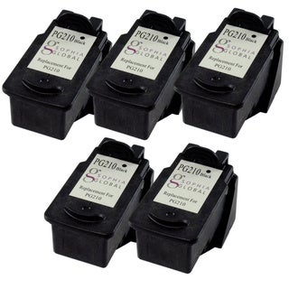 Sophia Global Remanufactured Ink Cartridge Replacement for Canon PG-210 (5 Black)