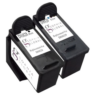 Sophia Global Remanufactured Ink Cartridge Replacement for Dell DH828 and DH829 Series 7 (1 Black, 1 Color)