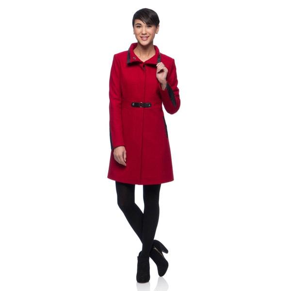 Via Spiga Women's Wool Blend Walker Coat