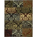 Patty Patchwork Non-skid Rubber Backing Brown Area Rug (3'3 x 5'3)