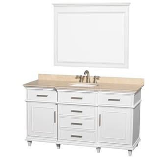 Berkeley 60-inch White Single Vanity