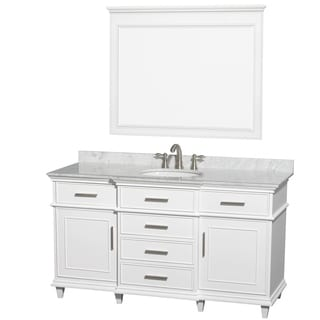 Wyndham Collection Berkeley 60-inch White Carrera Single Vanity