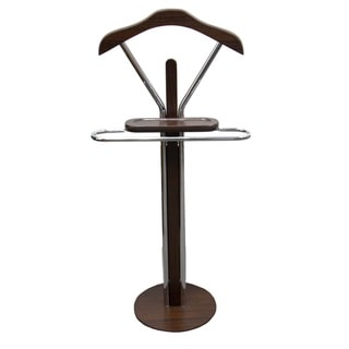 41.5-inch Espresso Wood/ Metal Men's Valet