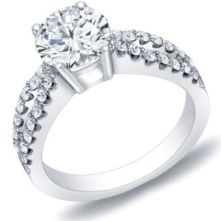 Auriya 14k Gold 1ct TDW Round Diamond Bridal Ring Set (H-I, SI1-SI2)