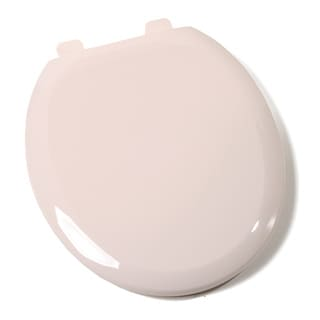 Comfort Seats Close Premium Plastic Seashell Round Toilet Seat with Closed Front
