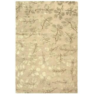 Safavieh Hand-knotted Nepalese Sage Wool/ Silk Rug (8' x 10')