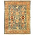 Safavieh Hand-knotted Peshawar Vegetable Dye Light Blue/ Gold Wool Rug (5' x 7')