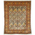 Safavieh Hand-knotted Peshawar Vegetable Dye Light Blue/ Gold Wool Rug (5' x 7')