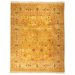 Safavieh Hand-knotted Ganges River Gold/ Ivory Wool Rug (9' x 12')