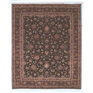 Safavieh Hand-knotted Tabriz Floral Burgundy/ Palm Wool/ Silk Rug (6' x 9')