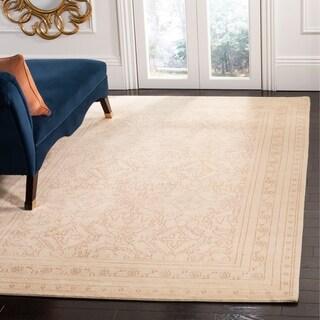 Safavieh Hand-knotted Suzanne Kasler Pink/ Cream Wool/ Silk Rug (6' x 9')