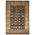 Safavieh Hand-knotted Ganges River Black/ Gold Wool Rug (6' x 9')