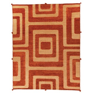 Safavieh Hand-knotted Santa Fe Modern Abstract Light Gold Wool Rug