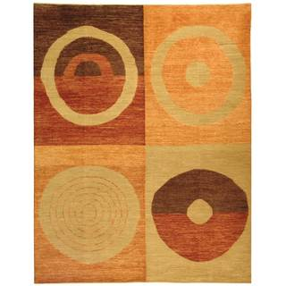 Safavieh Hand-knotted Santa Fe Beige/ Rust Wool Rug (9' x 12')