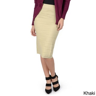 Hailey Jeans Co. Junior's Stretchy Pleated Pencil Skirt
