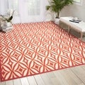 Waverly Sun and Shade Campari Indoor/ Outdoor Rug (10' x 13')