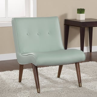 Mid Century Aqua Bonded Armless Chair Overstock Shopping Great Deals On L