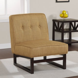 Cascade Sleigh Base Goldtone Chair