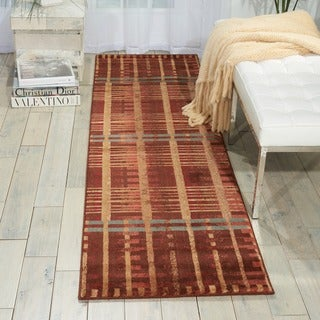 Somerset Brown/ Multi Area Rug (2' x 7')