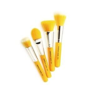 Bdellium Yellow Bambu Foundation 4-piece Brush Set