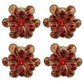 Celebration Red Flower Petal Napkin Rings (Set of 4)