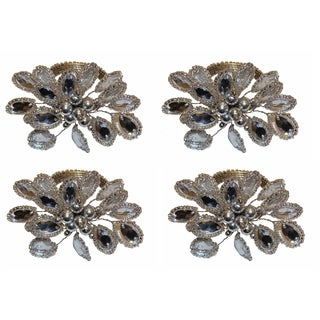 Celebration Silver Multi Beaded Napkin Rings (Set of 4)