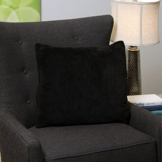 Square Black Decorative Throw Pillow