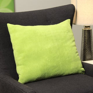 Square Lime Plush Decorative Throw Pillow