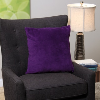 Square Purple Plush Decorative Throw Pillow