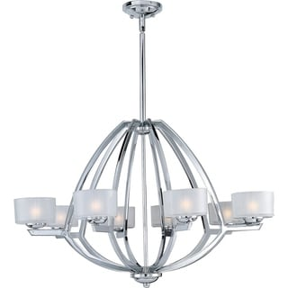 Vortex 8-light Polished Chrome Elliptical Chandelier