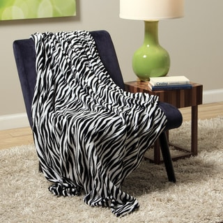 Plush Decorative Zebra Throw