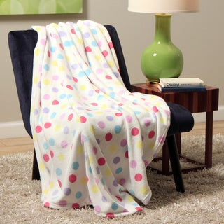 Plush Decorative Pastel Dot Throw