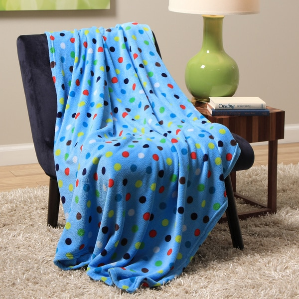 Plush Decorative Bright Dot Throw