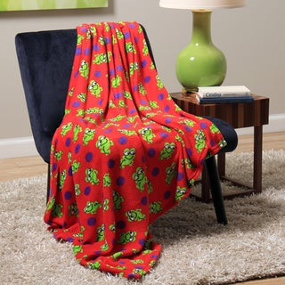 Plush Decorative Frog Throw