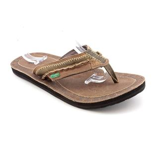 Sanuk Men's 'Passport' Leather Sandals (Size 7 )