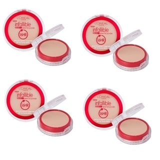 L'Oreal Infallible 16HR Never Fail Natural Buff Powder (Pack of 4)