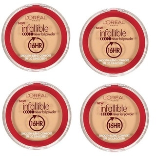 Loreal Infallible 16HR Never Fail Natural Beige Powder (Pack of 4)