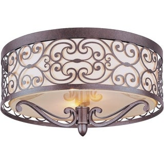 Mondrian 2-light Umber Bronze Flush Mount