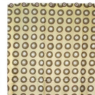 Beige Circles Shower Curtain with 12 Circle Hooks