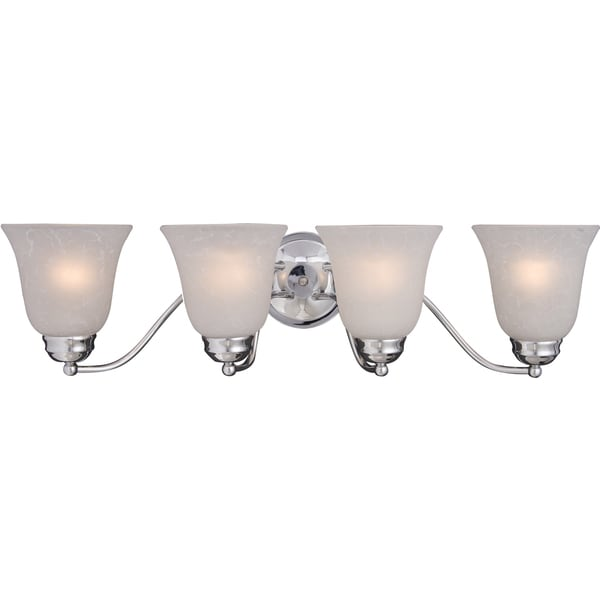 Basix 4-light Chrome Bathroom Vanity Fixture