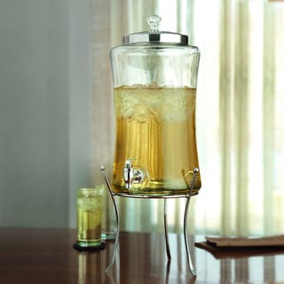 Beverage Dispenser with Stand and Diamond Decorative