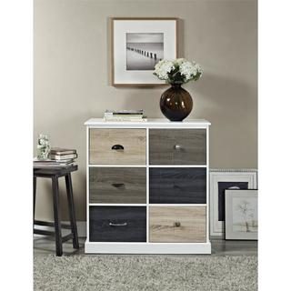 Altra Mercer 6-door Storage Cabinet with Multi-colored Doors