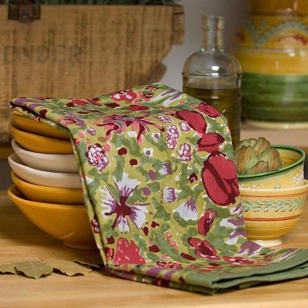 Jardine Red/ Green Tea Towels (Set of 3)
