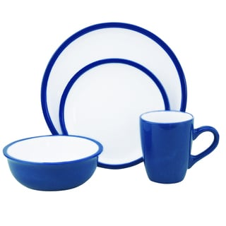 Lorren Home Trends Two-tone Blue/ White 16-piece Stoneware Set
