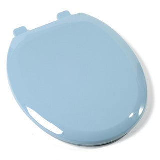Comfort Seats EZ-close Round Regency Blue Premium Plastic Toilet Seat