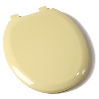 Comfort Seats EZ-close Round Citron Yellow Premium Plastic Toilet Seat