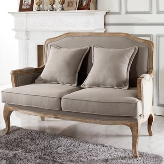 Baxton Studio Constanza Classic Antiqued French Loveseat