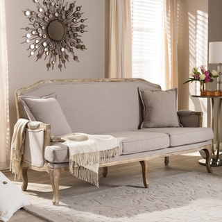 Baxton Studio Constanza Classic Antiqued French Sofa